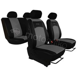 Pokrowce samochodowe uniwersalne Eko-skóra Szare BMW Seria 1 F20/F21 od 2011 - Szary
