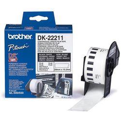 Taśma foliowa ciągła DK-22211 do drukarek Brother serii QL (29mm x 15.24m)