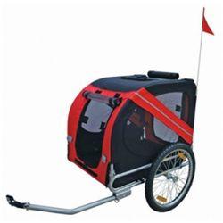 Przyczepa rowerowa dla psów. Czerwona Zapisz się do naszego Newslettera i odbierz voucher 20 PLN na zakupy w VidaXL!
