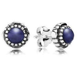 PANDORA Kolczyki urodzinowe na wrzesień, lapis lazuli