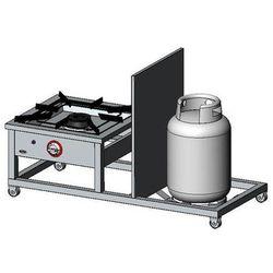 Taboret gazowy 1-palnikowy EGAZ TG-110.V 9kW
