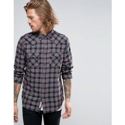 Lee Rider Check Western Shirt Maroon - Red