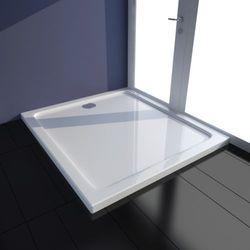 vidaXL Brodzik prysznicowy prostokątny ABS biały 80 x 90 cm Darmowa wysyłka i zwroty