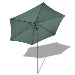 Parasol przeciwsłoneczny okrągły 3 m, zielony Zapisz się do naszego Newslettera i odbierz voucher 20 PLN na zakupy w VidaXL!