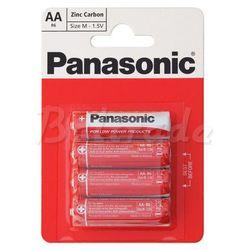 4 x bateria cynkowo-węglowa Panasonic R6 AA (blister)