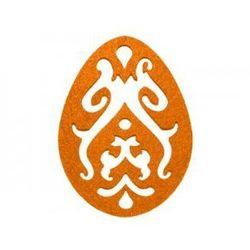 Dekoracja z filcu PISANKA AŻUR duża (III) pomarańczowa - 1 SZTUKA