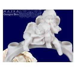> Para aniołków - świecznik -alabaster grecki