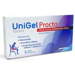 UniGel Apotex Procto, 5 czopków doodbytniczych