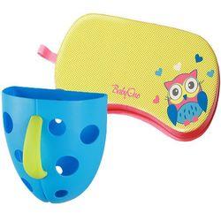 BABYONO Pojemnik na zabawki kąpielowe + Mata ochronna pod kolana grati