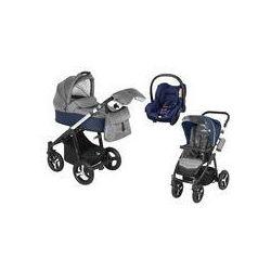 Wózek wielofunkcyjny 3w1 Lupo Husky Baby Design + Citi GRATIS (granatowy)