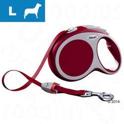 Smycz dla psa Flexi Vario L czerwona, 8 m - Lampka LED-Lighting-System