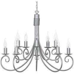 Żyrandol LAMPA wisząca NOW5420 świecznikowy ZWIS metalowy maria teresa srebrny