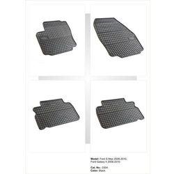 Dywaniki gumowe czarne z kompletem stoperów - Ford S-Max (I) 2006-2015
