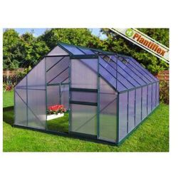 Szklarnia ogrodowa aluminium + poliwęglan 6mm UV z fundamentem 10,75 m kw. 250 x 430