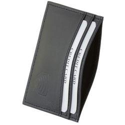2236d415471b5 Etui Skórzane Karty Płatnicze Zbliżeniowe Blokujące Czarny Skóra - Czarny  połysk