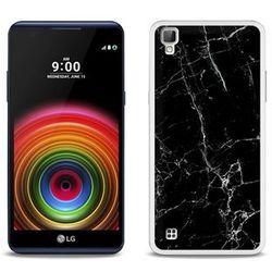 Fantastic Case - LG X Power - etui na telefon Fantastic Case - czarny marmur