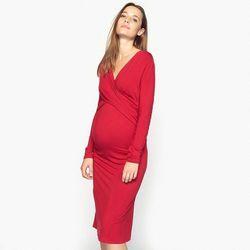 9859c347 Dzianinowa sukienka ciążowa i dla karmiących piersią
