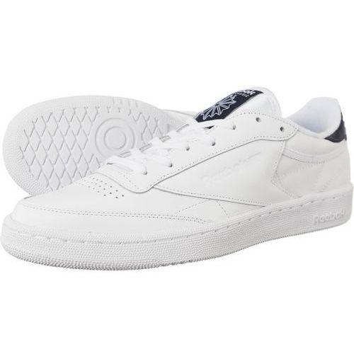 Reebok – Classic Club C 85 – Białe skórzane buty sportowe z gumową podeszwą