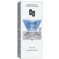 AA LASER WHITE Krem na dzień SPF 20 redukcja przebarwień + gładkość 30 ml