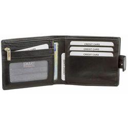 26de85b49457b Portfel Męski Skórzany RFID Karty Monety Dowód Rejestracyjny Czarny