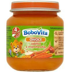 BOBOVITA 125g Owoce Jabłka z marchewką po 4 miesiącu