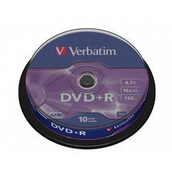 VERBATIM PŁYTY DVD+R VERBATIM 4,7 GB 16x CAKE 10 SZT.43498