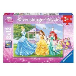 RAVENSBURGER Puzzle Księżniczki w ogrodzie 2x12 elementów