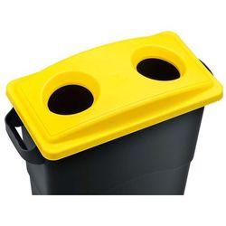 Kosz do segregacji śmieci Ekosort 60L, żółty