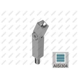 Podpora poręczy nastawna AISI304, 40x40x2/14x14/M8
