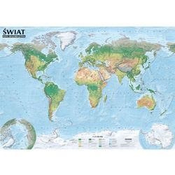 Świat Mapa Polityczna I Krajobrazowa Listwa Aluminiowa (opr. miękka)