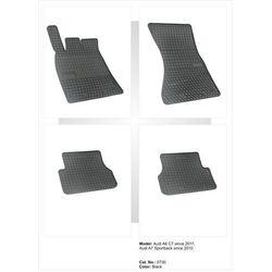 Dywaniki gumowe czarne z kompletem stoperów - Audi A6 (C7) od 2011