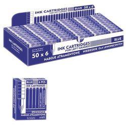 Starpak, naboje do piór wiecznych dla leworęcznych, krótkie, niebieskie, 6 sztuk Darmowa dostawa do sklepów SMYK