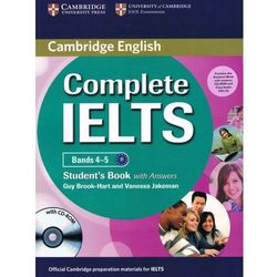 Complete IELTS Bands 4-5 Student's Pack: Student's Book (podręcznik) with Answers & CD-ROM and Class Audio CDs (2) (opr. miękka)