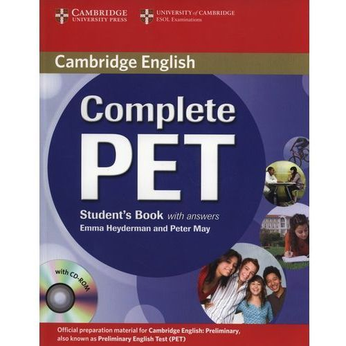 Complete PET Student`s book with answers + Cd-Rom (opr. miękka)
