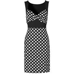 Sukienka bonprix czarny w groszki