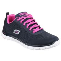 Skechers Women's Flex Appeal Obvious Choice Low Top Trainers - Blue - UK 5
