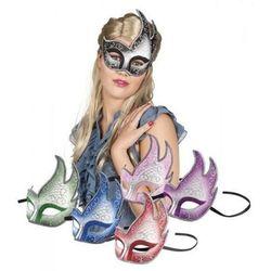 Maska wenecka zdobiona - 6 kolorów