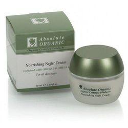 Absolute Organic organiczny odżywczy krem na noc z kwasem hialuronowym i Omega 3-6 dla każdej cery 50 ml