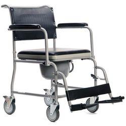 Wózek inwalidzki z funkcją toalety.