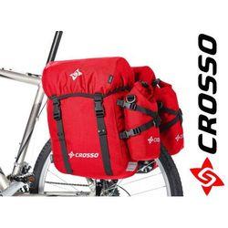 CO1006.46.02 Sakwy rowerowe CROSSO CLASSIC BIG 46l czerwone zestaw na tył