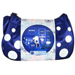 Nivea In-Shower Body Milk Kit W Kosmetyki Zestaw kosmetyków 400ml In-Shower Body Milk + 250ml Creme Care Shower Gel + 50ml Invisible Roll-on Anti-perspirant 48h + 30ml Nivea Creme + Bag