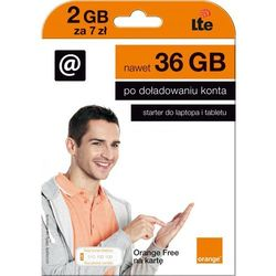 Starter ORANGE Free Na Kartę 2 GB 7zł