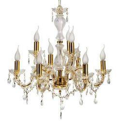 LAMPA wisząca MARIA TERESA 39-95841 Candellux świecznikowa OPRAWA klasyczny ŻYRANDOL złoty