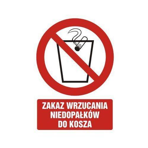 Zakaz wrzucania niedopałków do kosza
