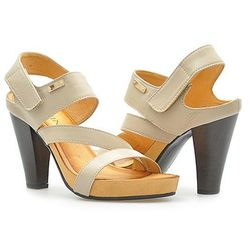 Sandały Carini B2664 Beżowe