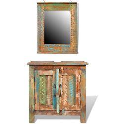vidaXL Drewniana szafka łazienkowa z lustrem Darmowa wysyłka i zwroty