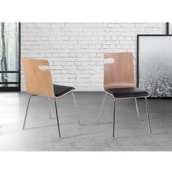 Krzeslo jasnobrazowe - do jadalni - do kuchni - drewniane - BRONX