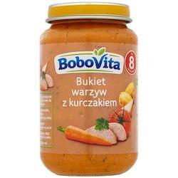 BOBOVITA 190g Obiadek Bukiet warzyw z kurczakiem po 8 miesiącu