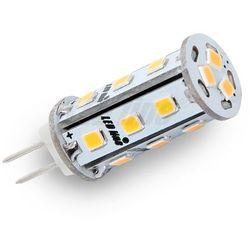 Żarówka LED 18 SMD G4 10~18V AC/DC 3W biała ciepła CORN CCD - biała ciepła