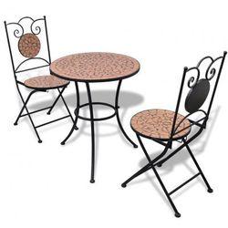 Stolik i 2 krzesła Bistro Terakota Zapisz się do naszego Newslettera i odbierz voucher 20 PLN na zakupy w VidaXL!